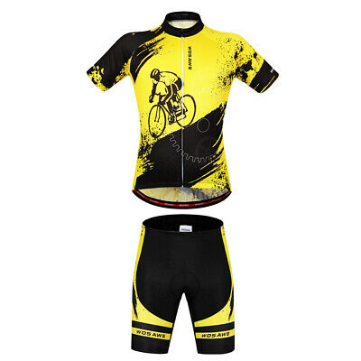 Men's Cycling Wear Road Bike Short Sleeve Set Bicycle Set Jersey Shorts M • 27.45£