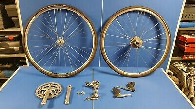 Campagnolo Veloce 10 Speed Groupset Plus Wheels Mavic Continental • 350£