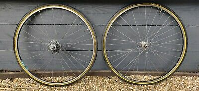 Ambrosio Gentleman Wheels With Campagnolo 8 Speed Hubs And Miche Cassette • 80£