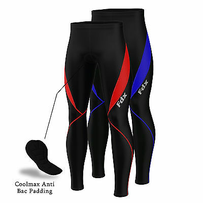FDX Mens Cycling Tights Winter Thermal Cold Wear Padded Legging Cycling Trouser • 17.98£