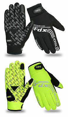 FDX Cycling Gloves Windproof Gel Padded Touchscreen  Full Finger Biking Gloves • 10.95£