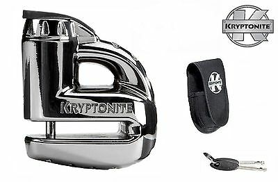 KRYPTONITE MOTORBIKE / SCOOTER KEEPER DISC LOCK 5s - CHROME WITH TRAVEL POUCH • 10.95£