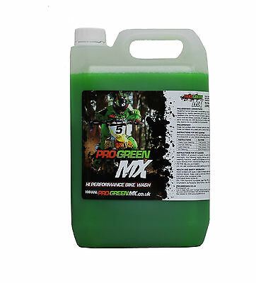 5 Litre Pro Green MX Bike Wash Cleaner MTB Motocross Enduro Trail Off Road MX • 22.99£