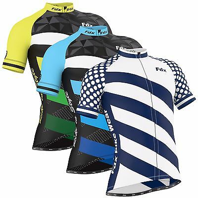 FDX Mens  Limited Edition  Cycling Jersey Short Sleeve Breathable Biking Top  • 23.99£