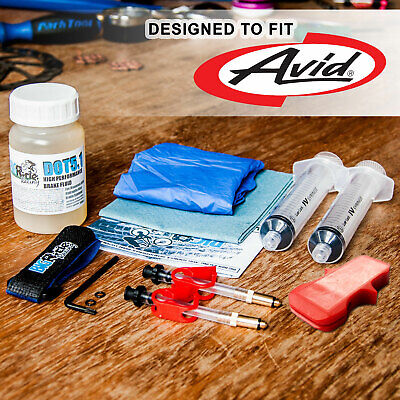 BRR Brake Bleed Kit For Avid Hydraulic Brakes  - Juicy, Elixir, Code,R, XO,XX • 14.85£
