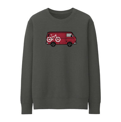 Bike Ninja T25 Van Red Sweatshirt - Cycling • 25£