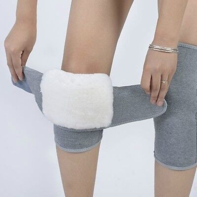 Sheepskin Wool Thermal Knee Joints Warmers Flexible Winter Pads Protector Thick • 13.05£