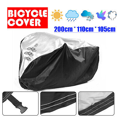 3 Bicycle Waterproof Rust  Bike Cycle Cover Waterproof Anti Rain UV Protection • 9.79£