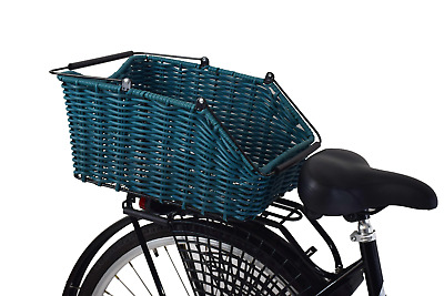 Ammaco Large Rear Polyrattan Bike Bicycle Shopping Basket Carrier Fit Q/R • 32.99£