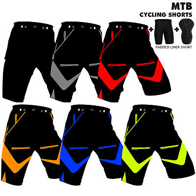 MTB Cycling Shorts Off Road Cycle Bicycle CoolMax Padded Liner Short Nexwears  • 19.99£