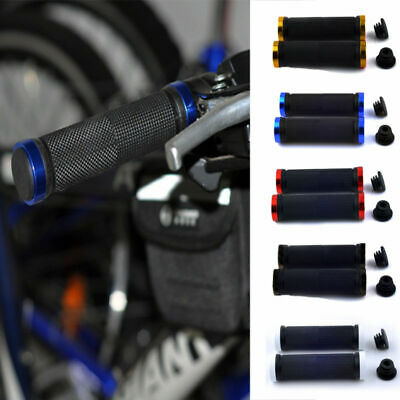 Double Lock On Locking Bmx Mtb Bmx Mountain Bike Cycle Bicycle Handle Bar Grips • 6.29£