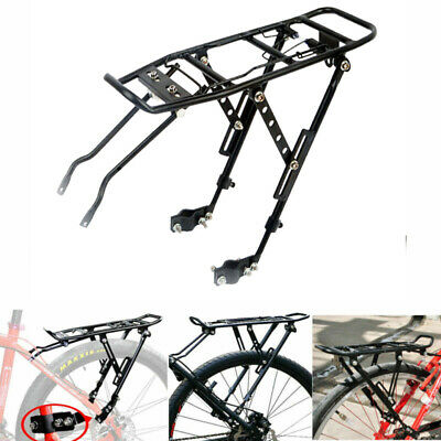 Alloy Rear Bicycle Pannier Rack Carrier Bag Luggage Cycle Mountain Road Bike • 15.89£