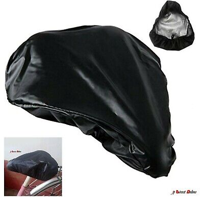 Waterproof Bike Seat Cover Bicycle Saddle Plastic Elastic Rain Cover Protective • 3.19£