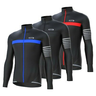 FDX Mens  ALL DAY  Cycling Jersey Long Sleeve Top Thermal MTB Winter Jackets • 26.99£