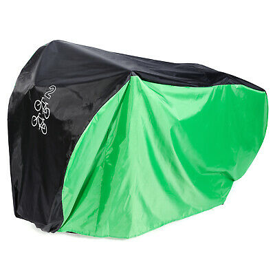 190T Nylon Heavy Duty Waterproof Green Bike Cover Case For 2 Mountain Road Bikes • 11.50£