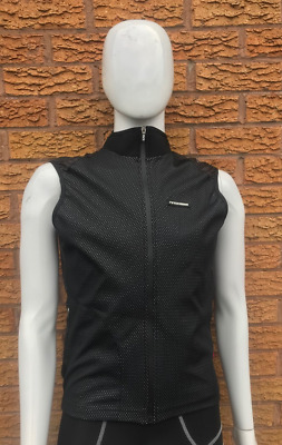Moozes Windstopper Cycling Gilet Wind Vest Full Zip With Zip Pocket - Black  • 14.99£