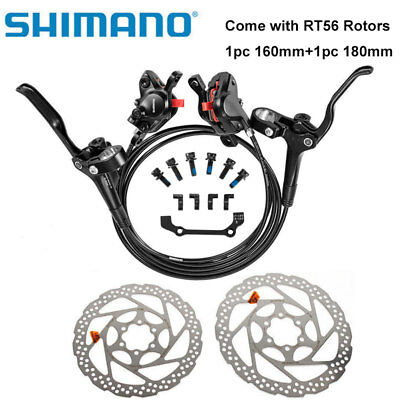 SHIMANO MT200 Bike Brake Hydraulic Disc Brakes Set Pre-Filled With RT56 Rotors • 62.98£