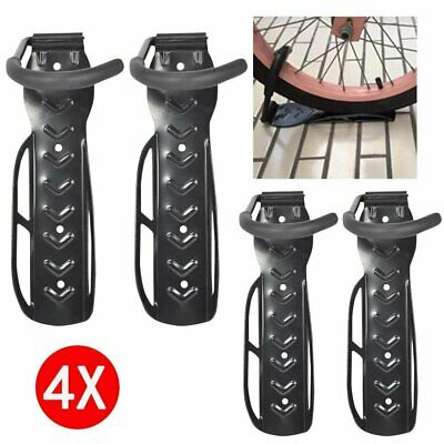 4x Bike Storage Rack Hook Wall Mount Vertical Garage Bicycle Hanger Stand Holder • 10.99£