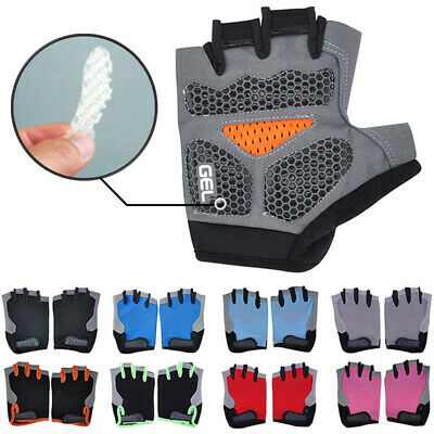 Road MTB Bicycle Cycling Half Finger Gloves GEL Padded BMX Bike Ride Fingerless • 5.09£