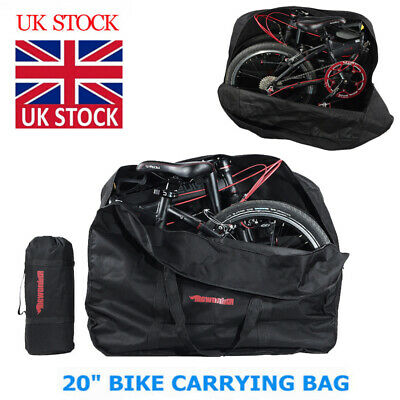 20 Inch Folding Bike Travel Bag Transport Bicycle Storage Carrying Case Pouch M • 15.98£
