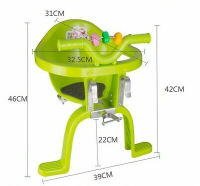 Bike Bicycle Child Safety Seat Handlebar Kids Baby MTB Front Chair Road Mountain • 39.90£