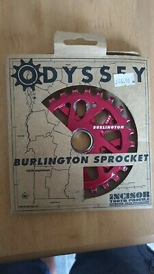 Odyssey Burlington 25t Sprocket Red Used BMX 7075 Aluminium Usa • 6.50£