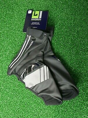 Madison Sportive Thermal Cycling Overshoes, Black With Hi-viz Accents • 14.99£