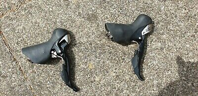 Pair Shimano 105 ST-5700 STI Shifters, 10 X 2 Speed, Black, Road (gear Levers) • 12.50£