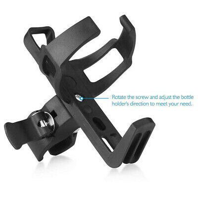 360° Rotatable Mountain Bike Bicycle Cycling Water Drink Bottle Holder Cage • 5.99£