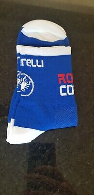 New Blue Rosso Corsa Cycling Socks Size 7-13 • 5.50£