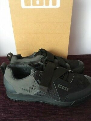ION Rascal Clipless SPD Shoes, Size 42/UK8 Black/ Grey, Brand New • 40£