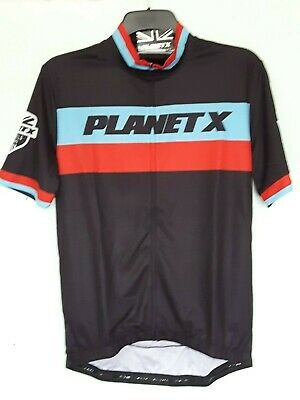 Mens Retro Planet X Short Sleeve Cycling Jersey Large - New / BNWT • 16£