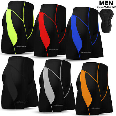 Mens Cycling Shorts Coolmax Compression Padded MTB Bicycle Bike Short S To 2XL • 9.99£