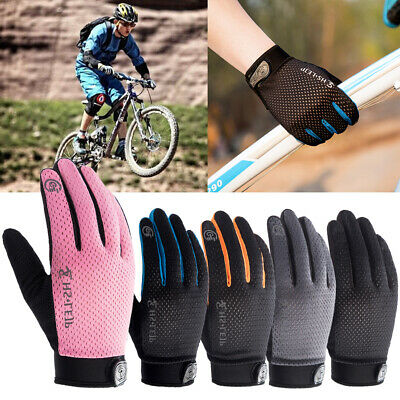 Full Finger Cycling Gloves Bike Bicycle Gel Padded Cycle Touch Screen Gloves MTB • 4.99£