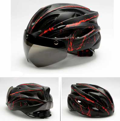 Riding MTB Road Bike Bicycle Cycling Helmets With Magnetic Sunglass & Visor • 20.49£