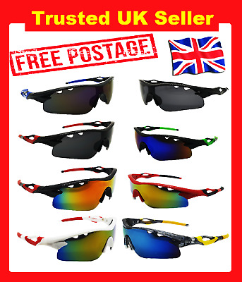 Cycling Glasses Sports Sunglasses Outdoor Sport Driving Running Uk Stock • 7.99£