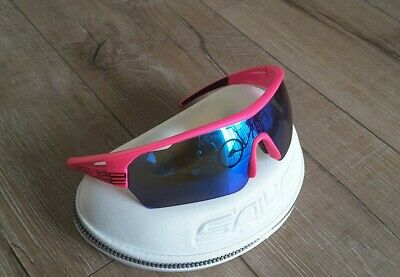 Salice Sunglasses - Blue Mirrored Lens - With Hard Case  - Cleaning Cloth - Pink • 9.50£