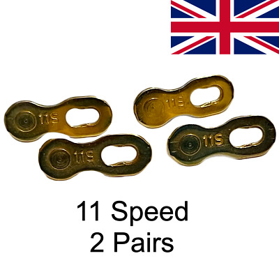 2 Pairs Quick Links 11S /11 Speed Shimano Campagnolo SRAM KMC Chains Chain Link • 8.99£