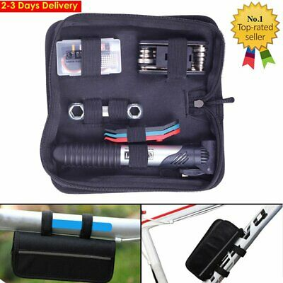 Bicycle MTB Repair Tools Kit Mountain Bike Cycle Puncture Tyre Pump With Bag NEW • 11.95£
