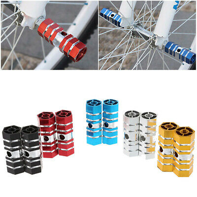2x BMX Mountain Bike Bicycle Axle Pedal Alloy Foot Stunt Pegs Cylinder UK NEW • 3.89£