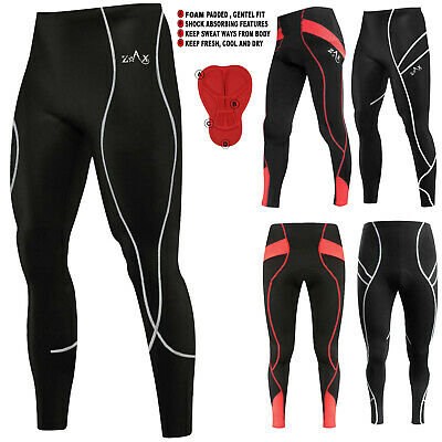 Mens Cycling Trousers Winter Tights Cycle Thermal Tights Leggings ANTI-BAC Small • 7.99£