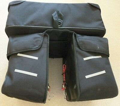 Water Resistant 3 In 1 Pannier With Waterproof Cover. Good Condition. • 9.99£