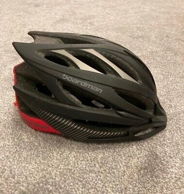 Boardman Cycling Helmet 56cm - 61.5cm Black Grey Red Adjustable • 0.99£