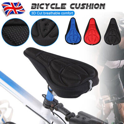 NEW Bike Bicycle Silicone 3D Gel Saddle Seat Cover Pad Padded Soft Cushion Comfy • 2.99£