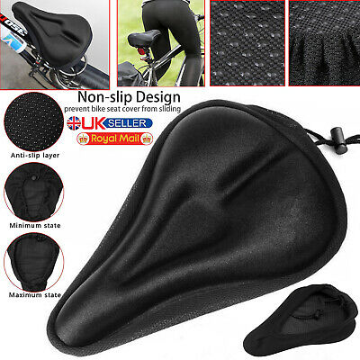 Soft Bike Gel Pad Comfy Cushion Saddle Seat Cover Mountain Bike Bicycle Cycle UK • 4.75£