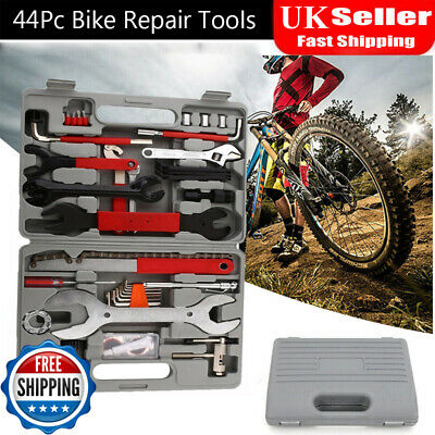 44PCS Complete Bike Repair Tools Tool Kit Set Home Mechanic Cycling Bicycle • 27.79£