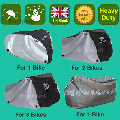 Multi Heavy Duty Bicycle Cover For 1 / 2 / 4 Bikes Mountain Road Vintage Scooter • 11.97£