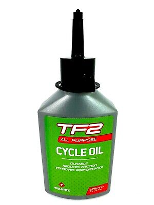 WELDTITE TF2 ALL PURPOSE LUBE ROAD MTB BIKE BICYCLE CYCLE CHAIN OIL - 125ml • 4.45£