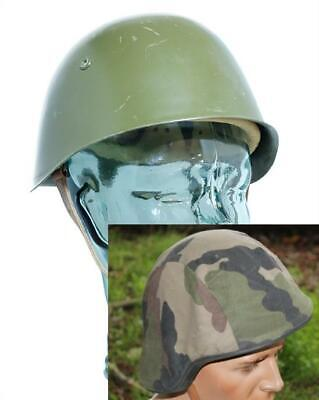 East European Military Army M72 Steel Combat Helmet WITH Woodland Camo Cover • 14.99£