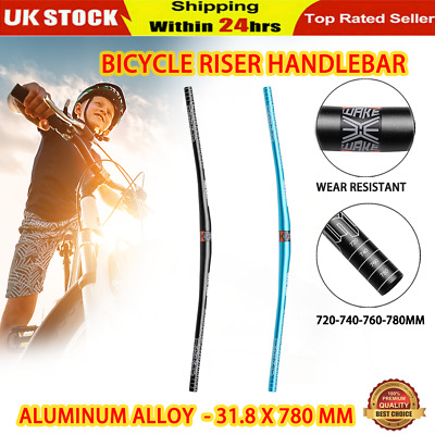 31.8 X 780 Mm MTB Mountain Bike Bicycle Aluminum Alloy Riser Handlebar • 11.98£